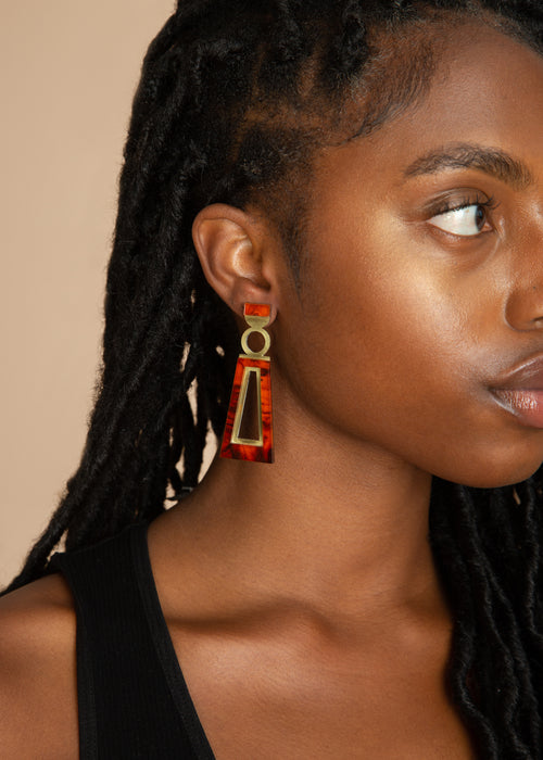 Tortoiseshell Navi Earrings