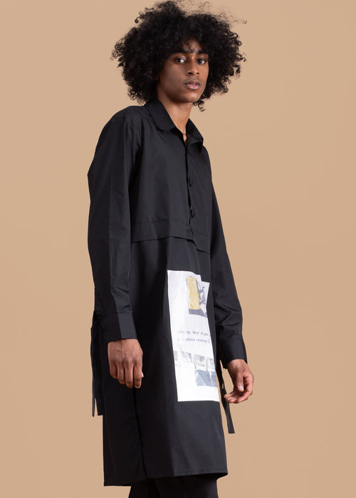 Warning Tunic in Black