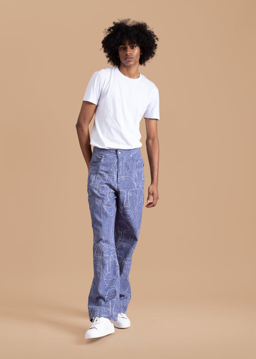 Faces Denim Look Pants
