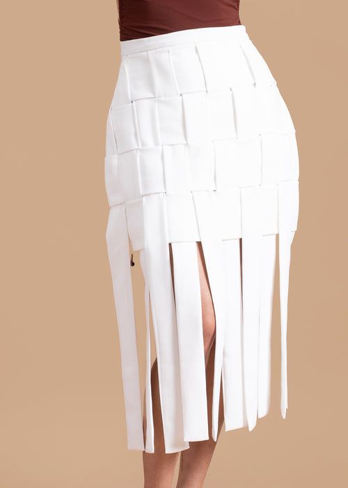 Basket Skirt in White