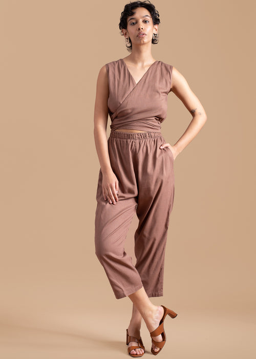 Cinnamon Sleeveless Jumpsuit