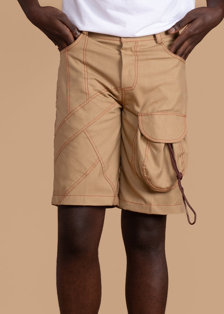 Shop the Paperbag Corded Shorts by Atto Tetteh