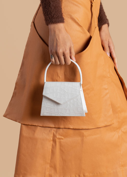 White Anima Iris Top Handle Zaza Bag