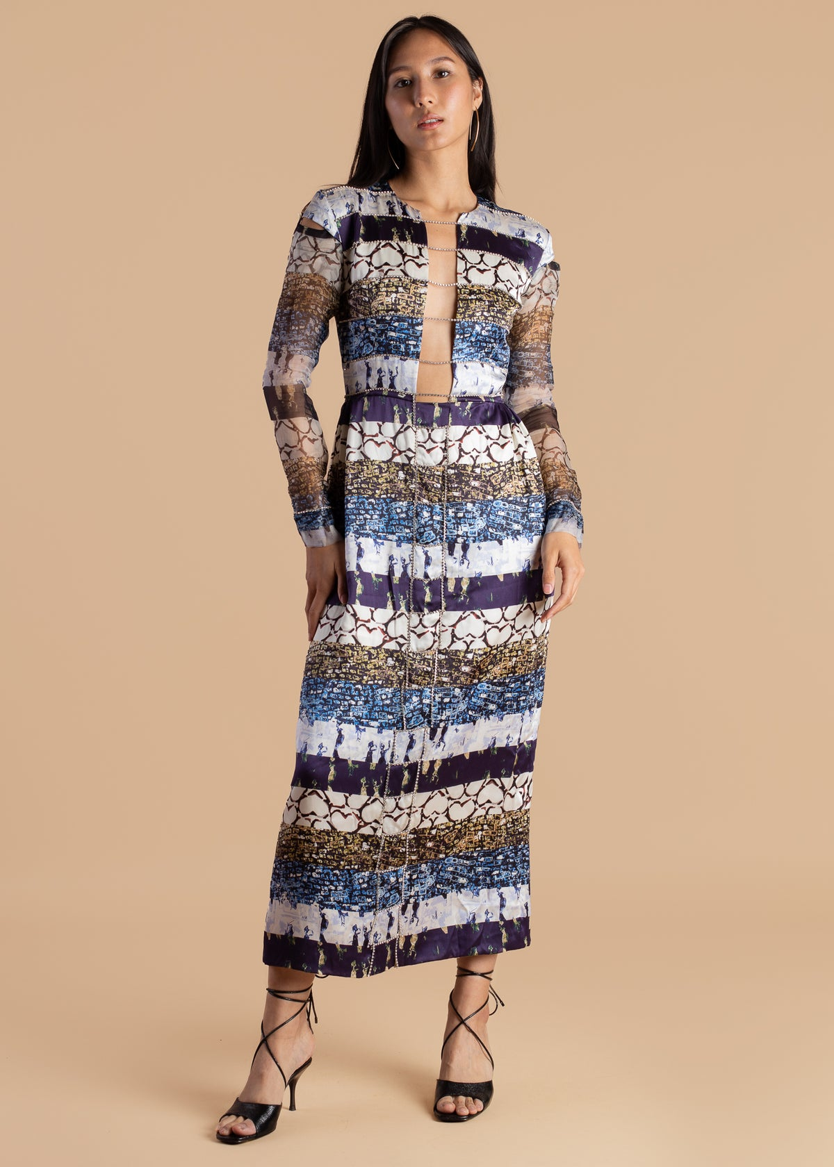 Lisa Folawiyo Life of the Party Printed Midi Dress