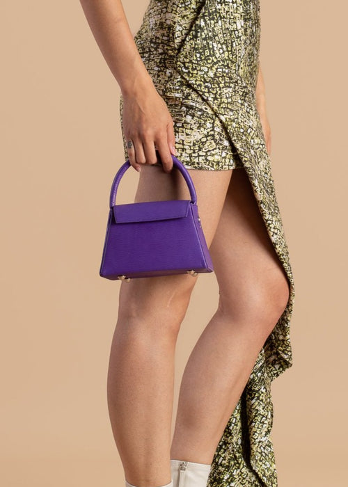 Purple Anima Iris Top Handle Zaria Bag