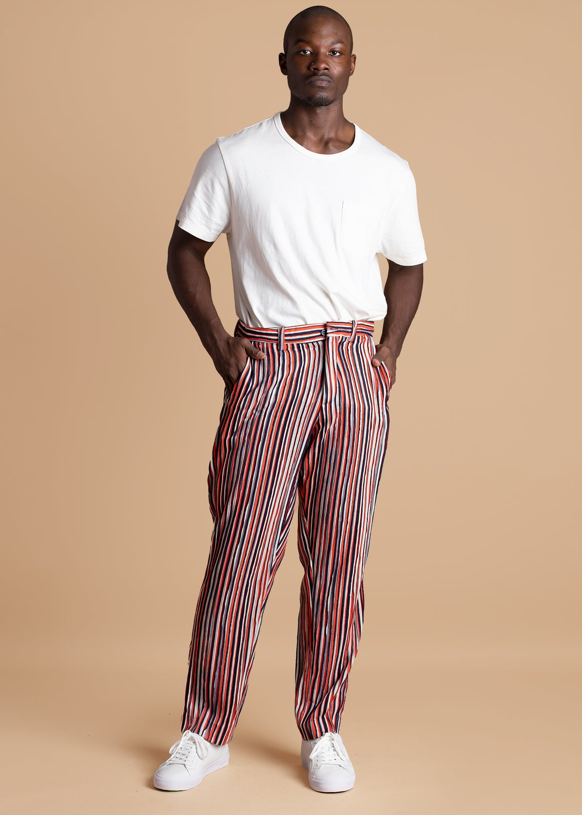 Tokyo James Red Striped Pant