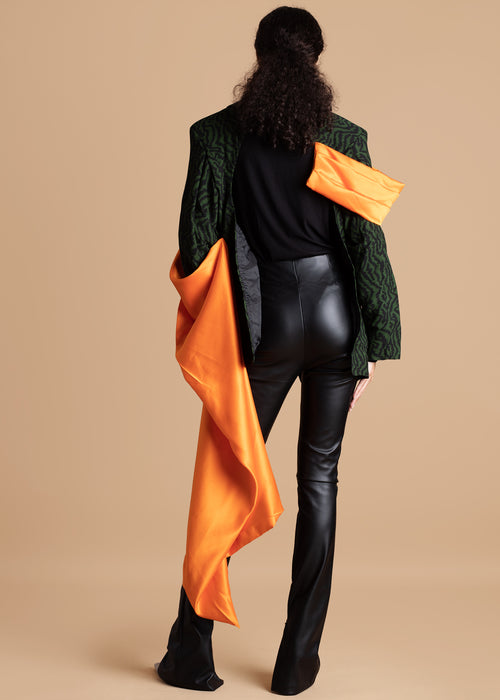 Fruche dark green with orange accents Amadi Blazer
