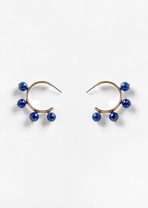 Pichulik small sodalite hoop earrings