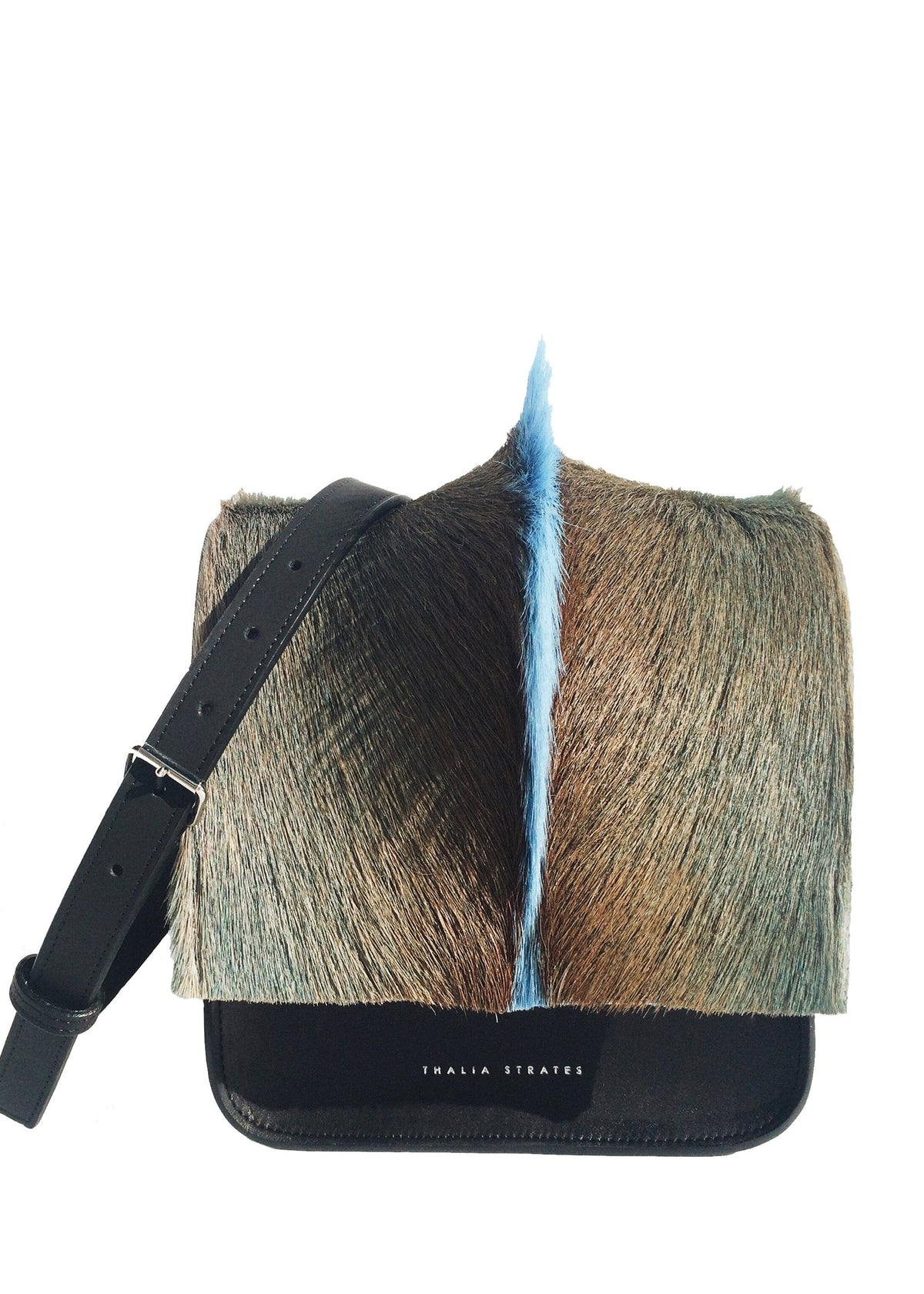 Shop the handmade springbok fur ombre bag from Thalia Strates.