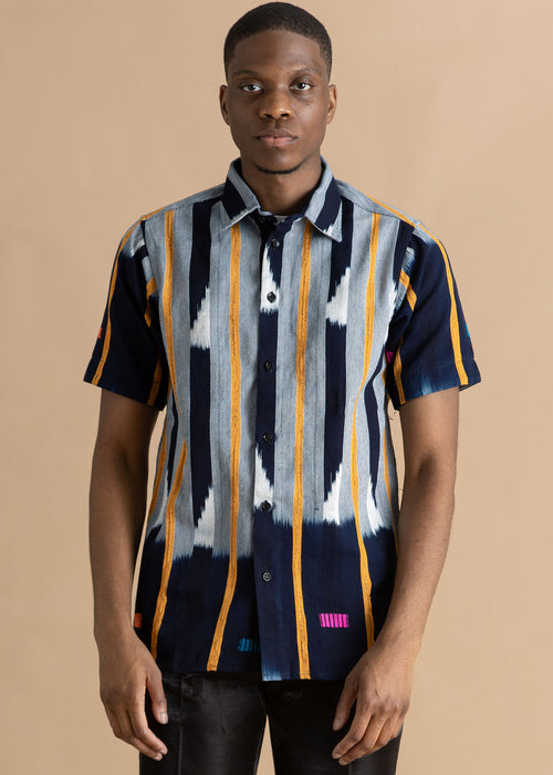 Kente Gentlemen Patterned Button Up Shirt