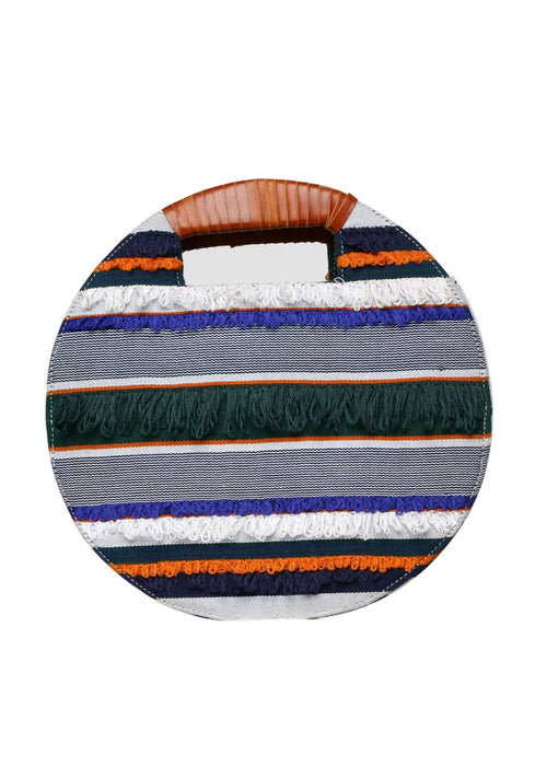 ROUND WOVEN MULTICOLORED BAG