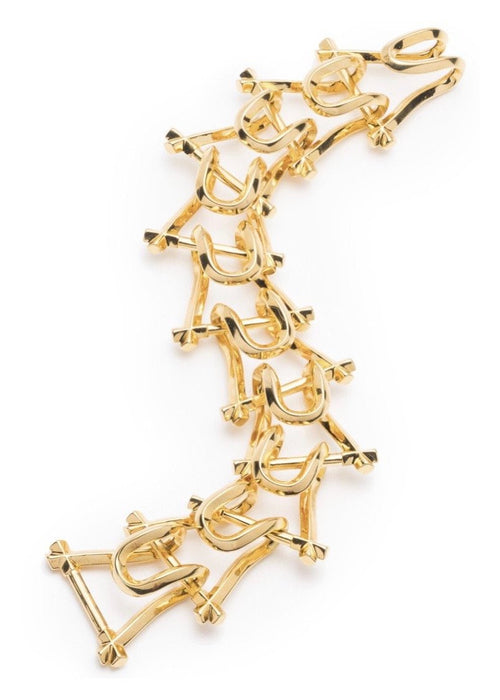 18K Gold Plated Brass Link Bracelet