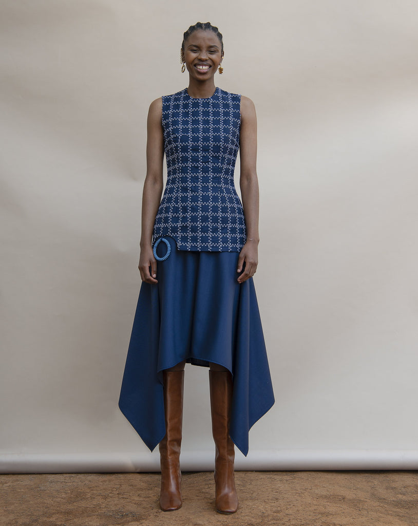 Shop MmusoMaxwell Mohair and Wool Hankerchief Skirt at The Folklore