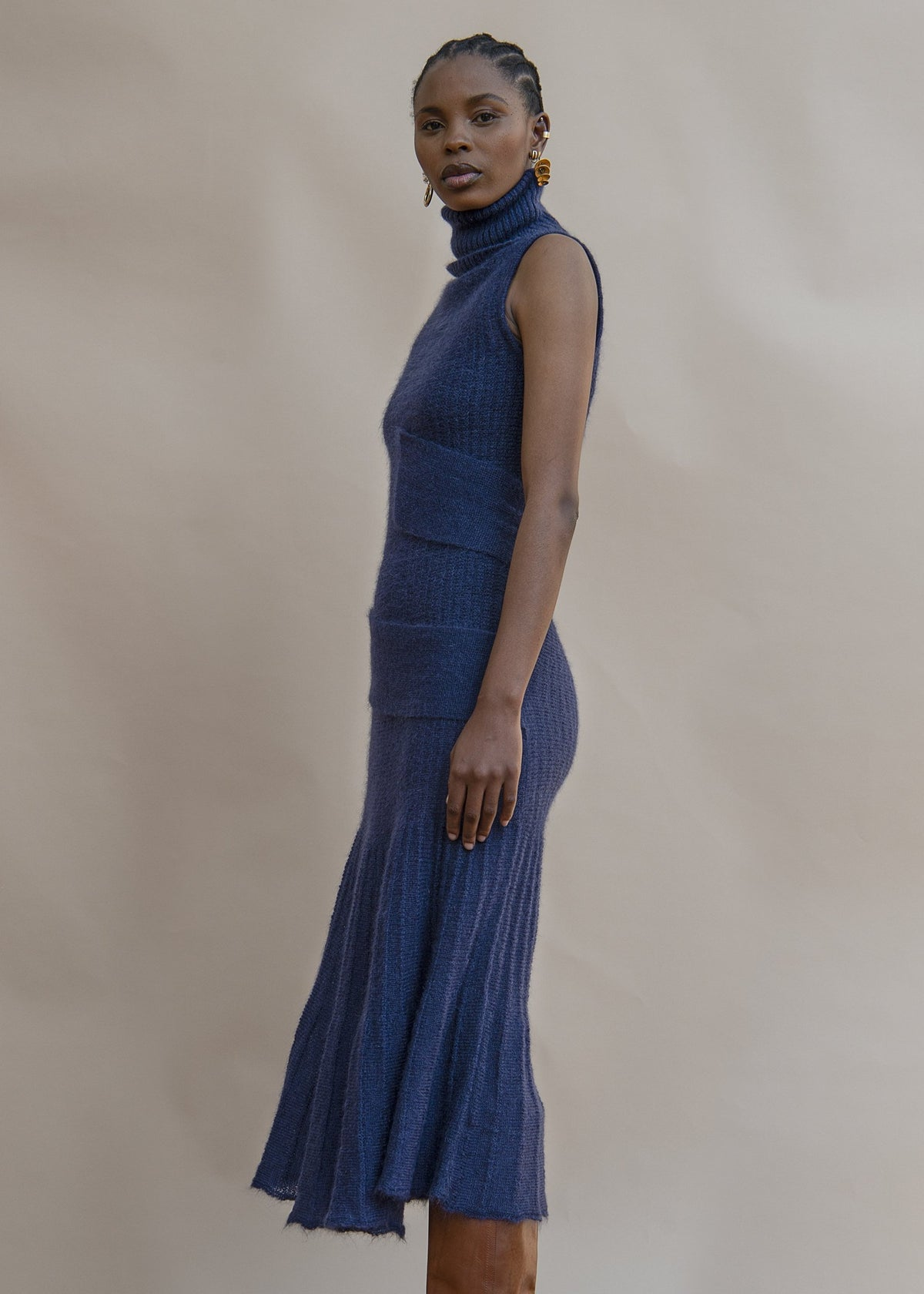 MmusoMaxwell knitted spiral dress