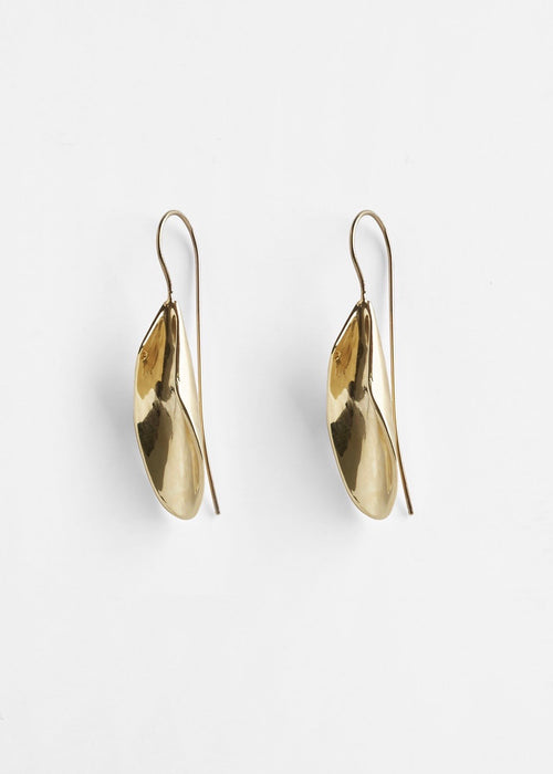 Pichulik Brass 22k gold-plated earrings