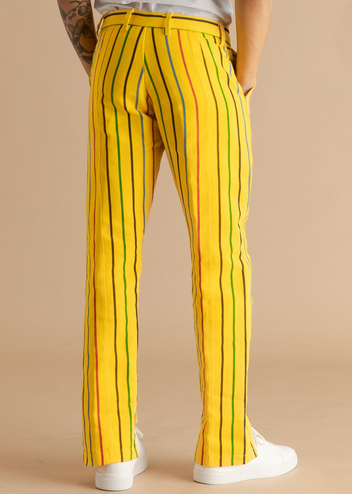 Orange Culture Aso-oke Pinstripe Pant