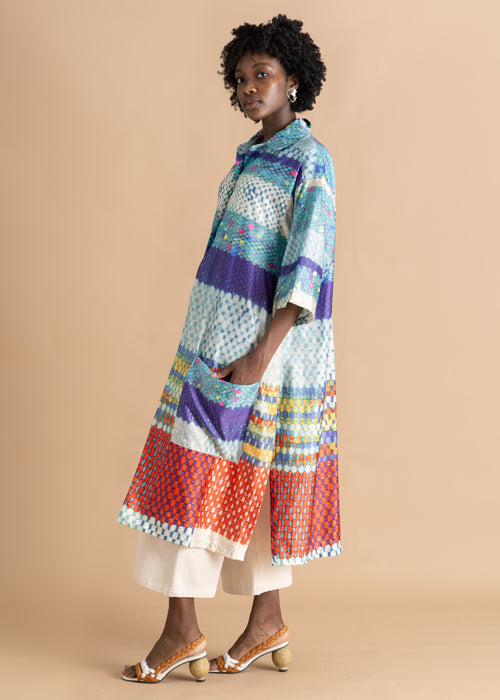 Nicholas Coutts multicolored printed long tunic