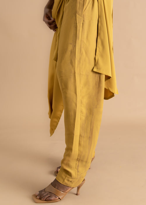 Yellow dyed tapered Sisiano pant