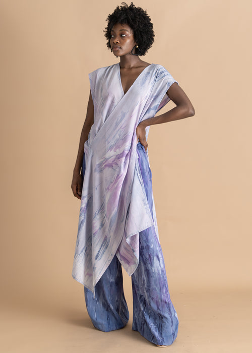 Purple watercolor dyed Sisiano pants
