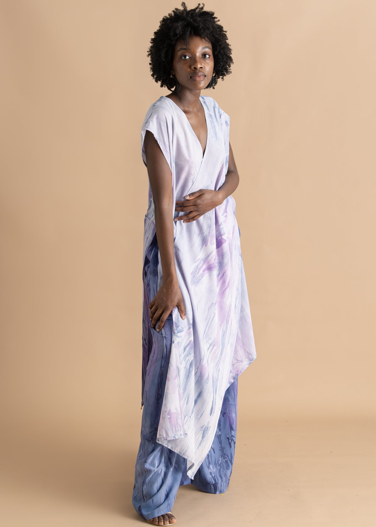 Sisiano Purple watercolor dyed pants