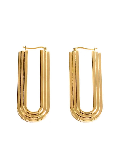 Chalk Jewellery 18ct Gold-Plated Hoop Earrings