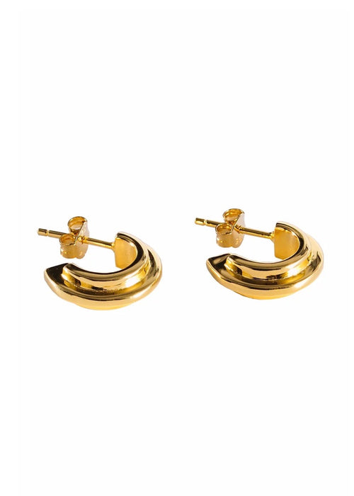 18ct Gold-Plated Sterling Silver Mini Hoop Earrings