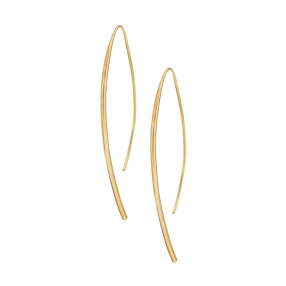 Soko 24k gold-plated brass Bow Earrings