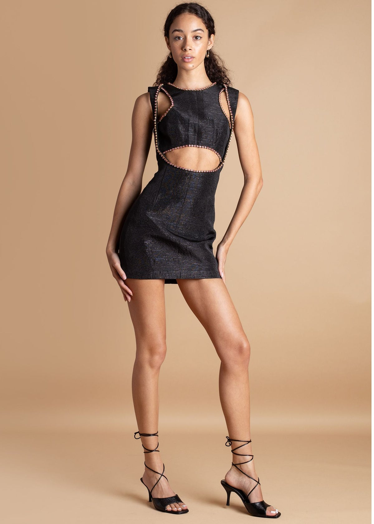 Onalaja Elia Black Mini Dress