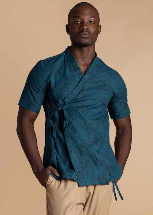 ALC Blue Wrap Shirt