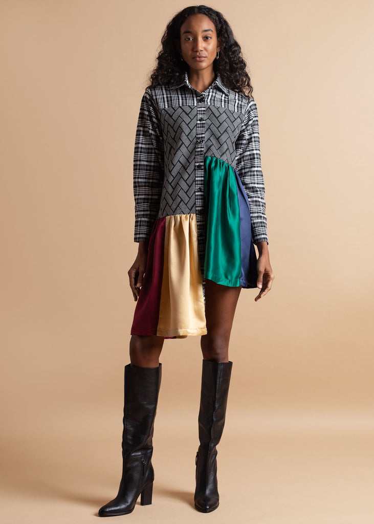 Shop Atto Tetteh Rainbow Shirt Dress on The Folklore