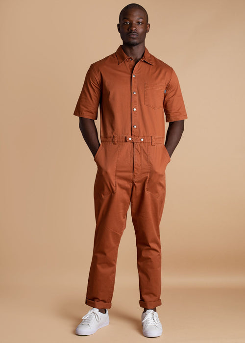 ALC orange short sleeve boiler suit