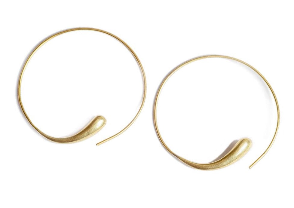 Soko 24k gold-plated brass Dash Hoops