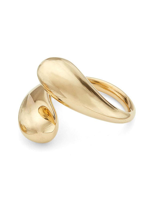 Soko 24k gold-plated brass Twisted Dash Ring