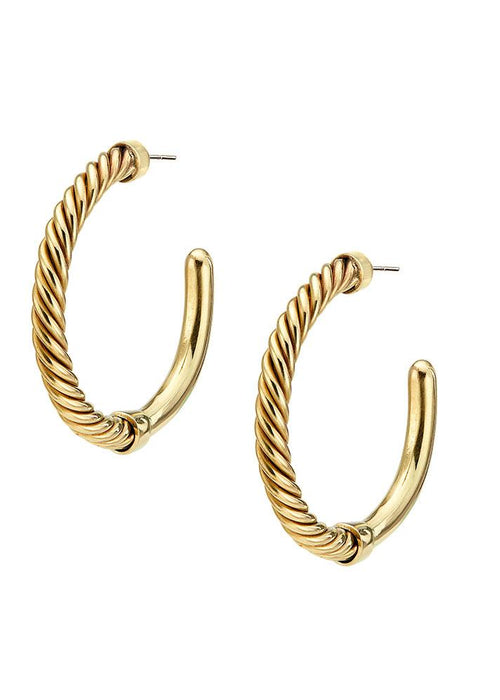 Soko 24K gold-plated brass Uzi Hoop Earrings