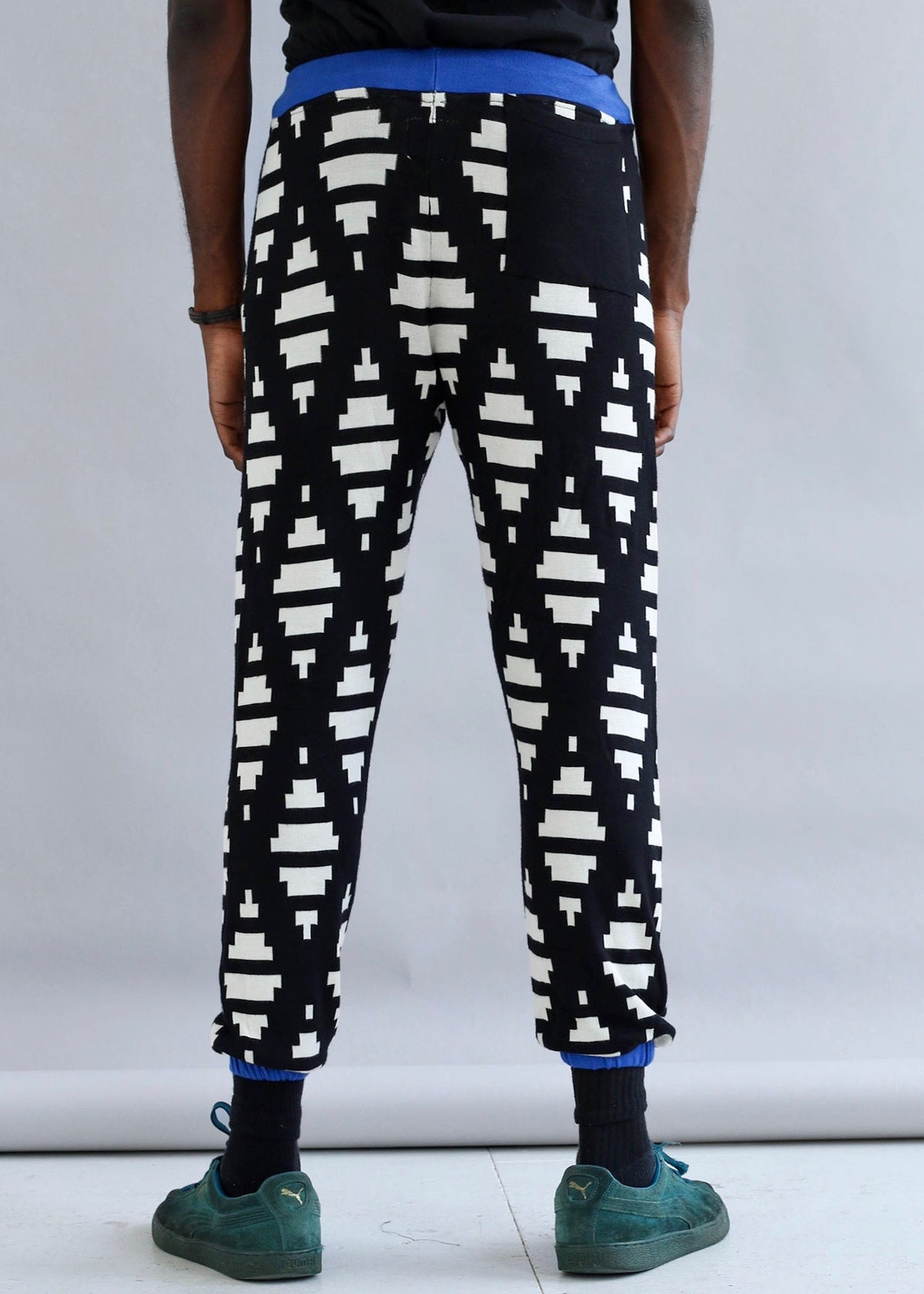Cotton printed jogger pants with elastic waistband and drawstring from MaXhosa by Laduma.