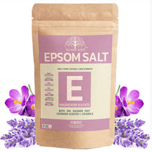 Load image into Gallery viewer, Pure Epsom Lavender Salt Bath (500Gms)