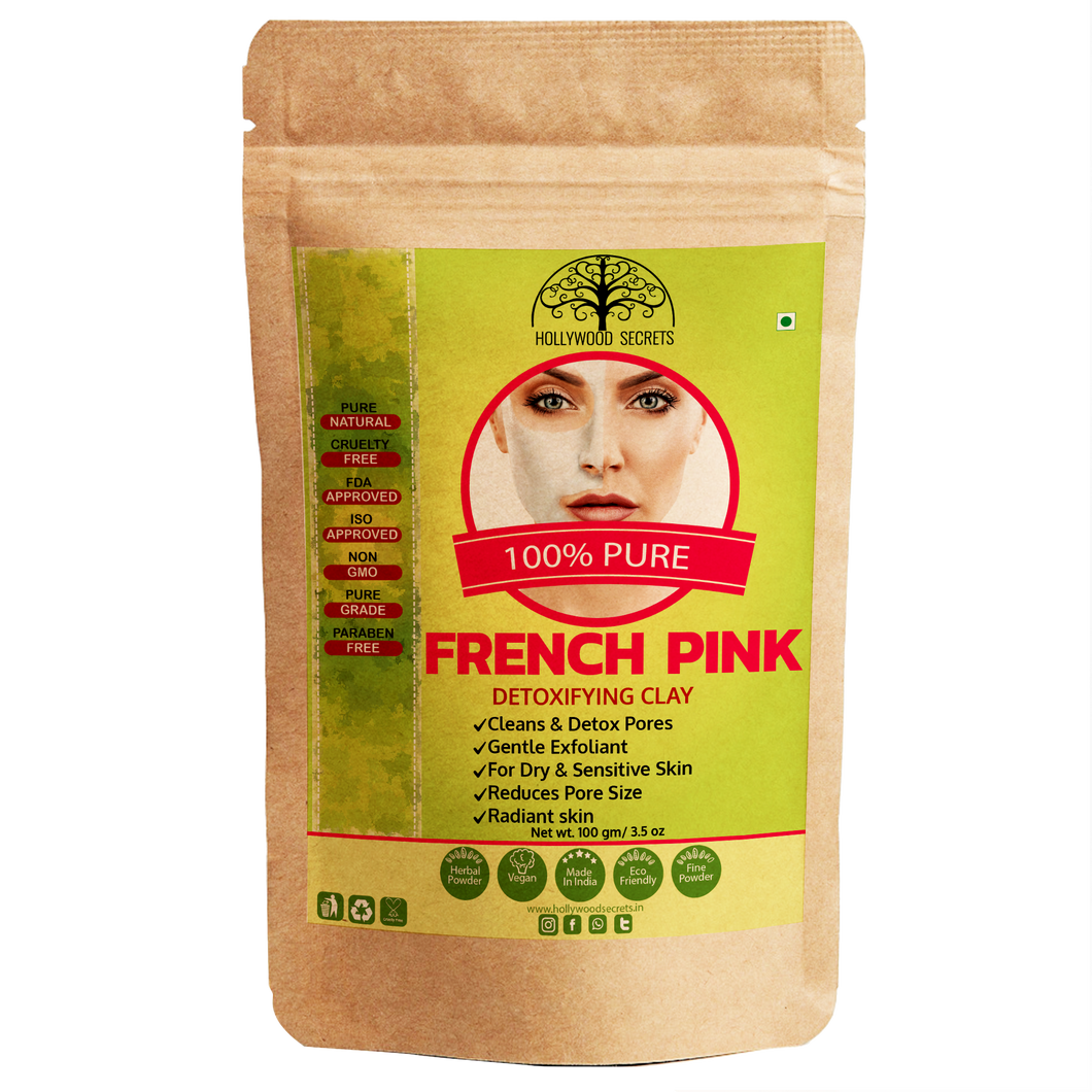 Pure French Pink Clay Powder 100Gms