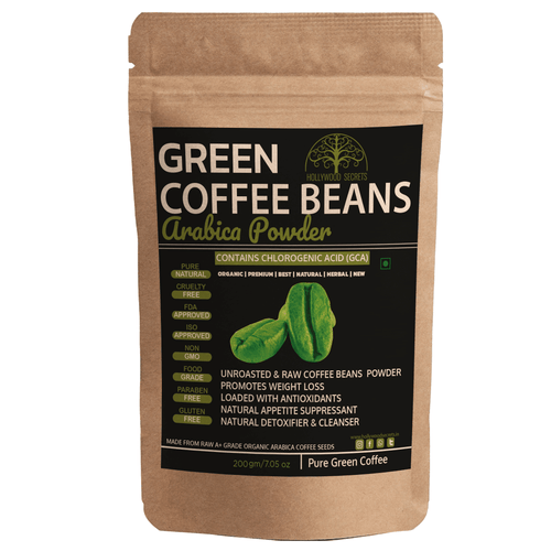 100% Pure Arabica Green Coffee Beans Powder (200Gms)