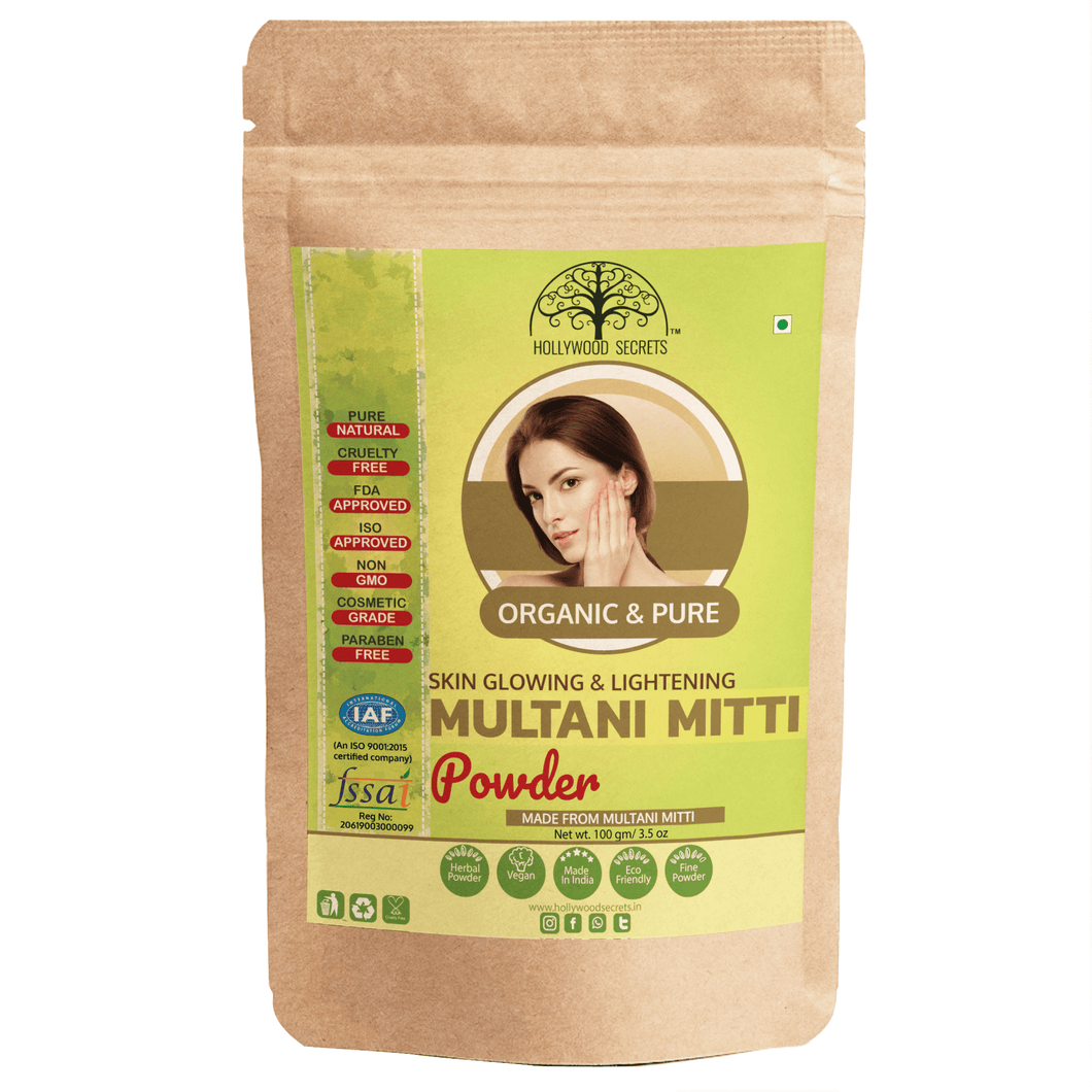 100% Pure Multani Mitti Powder (Fuller Earth) Pack Of 3 (100 Gms)