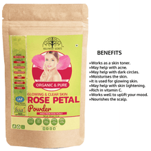 Load image into Gallery viewer, Natural Rose Petal Powder For Skin (100 Gms)