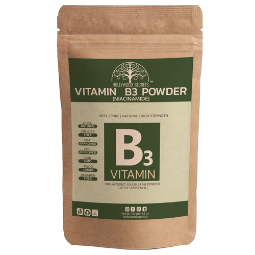 100% Pure Vitamin B3 Powder (Niacinamide) Supplements Acne Face (100 Gms)