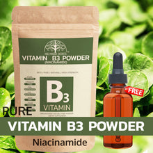 Load image into Gallery viewer, Pure Vitamin B3 Powder (Niacinamide) Supplements Acne Face (100 Gms)