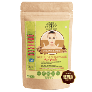 Organic White Sandalwood Root Powder With 100% Sandalwood Oil 50gm