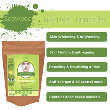 Load image into Gallery viewer, Organic White Seaweed Powder Peel Off Mask For Skin (100 Gms)