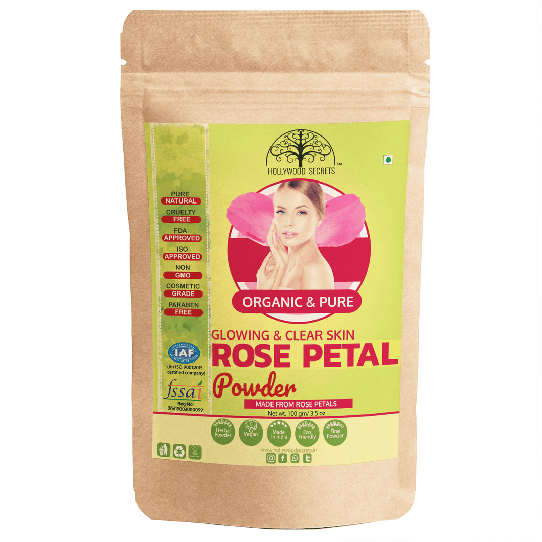 Natural Rose Petal Powder For Skin (100 Gms)