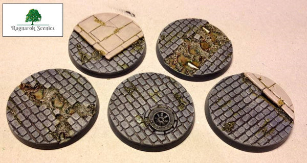 40mm Steampunk & Cobblestone #1 (Bevelled)