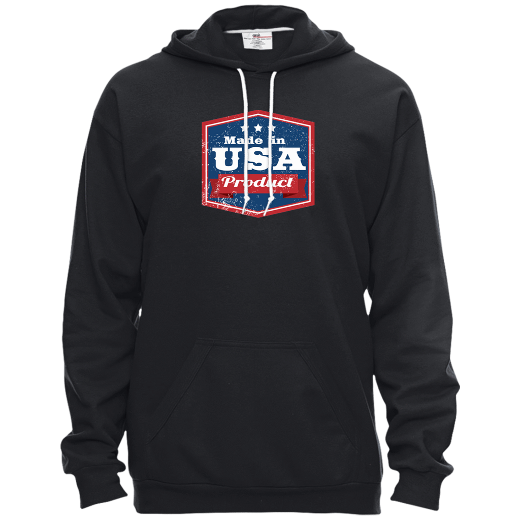 Apparel Made In USA Pullover Hooded Fleece / Black / X-Small MADE IN USA  Premium Hoodie or Triblend Tshirt
