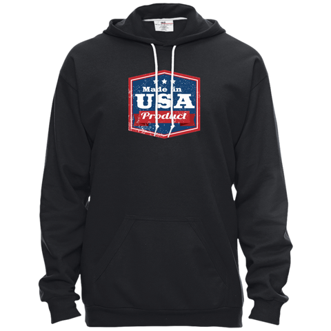 Image of Apparel Made In USA Pullover Hooded Fleece / Black / X-Small MADE IN USA  Premium Hoodie or Triblend Tshirt