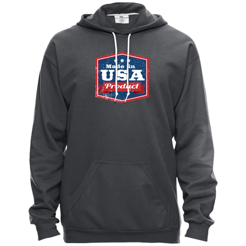 Image of Apparel Made In USA Pullover Hooded Fleece / Charcoal / X-Small MADE IN USA  Premium Hoodie or Triblend Tshirt