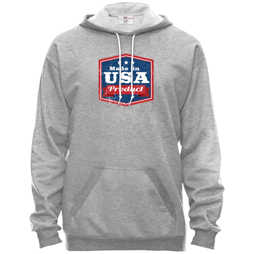 Apparel Made In USA Pullover Hooded Fleece / Heather Grey / X-Small MADE IN USA  Premium Hoodie or Triblend Tshirt